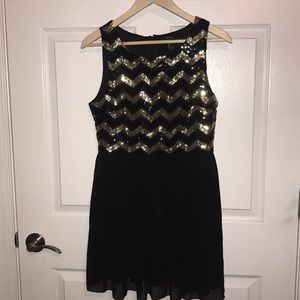 Sequin summer sleeveless dress Forever 21 sz L